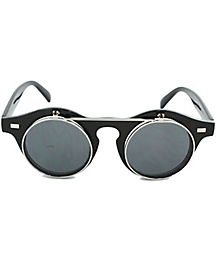 Steampunk Flip Up Red Glasses