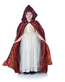 Pintuck Red Child Cape