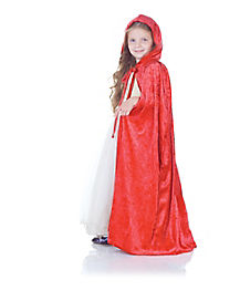 Hooded Red Child Cape