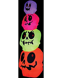 Neon Skull Stack Airblown Inflatable