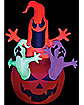 5 Ft Neon Ghost Pumpkin Inflatable - Decorations