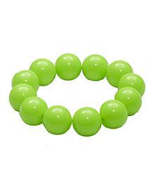 Green Gumball Bead Bracelet