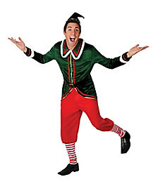 Adult Holiday Fun Elf Costume