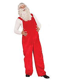 Santa Adult Mens Red Overalls