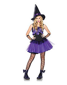 Tween Wicked Purple Witch Costume