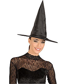 Black Taffetta Witch Hat