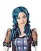 Curly Broken Doll Blue Wig