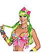 Light Up Green Wig