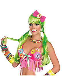Light Up Green Wig