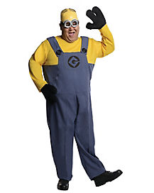 Adult Dave Minion Plus Size Costume - Despicable Me