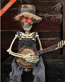 2 ft Banjo Playing Skeleton - Decorations