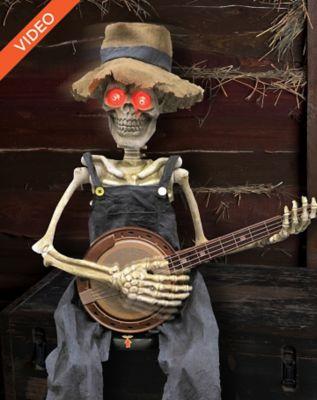 Banjo Playing Skeleton