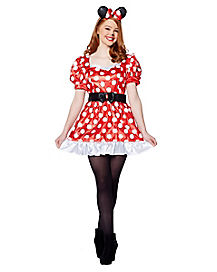 Disney Red Minnie Mouse Classic Adult Costume