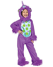 Toddler Purple Lil' Monster One Piece Costume