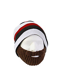 Striped Beard Beanie