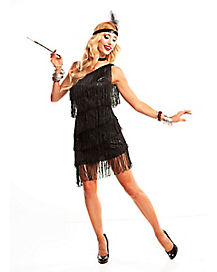 Dazzling Black Flapper Adult Costume