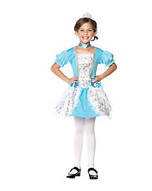 Kids Blue Fairytale Princess Costume
