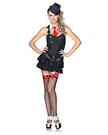 Adult Black and White Mafia Princess Costume