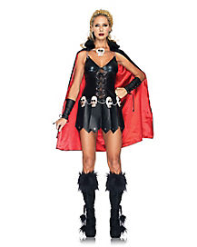 Warrior Woman Black Adult Womens Costume