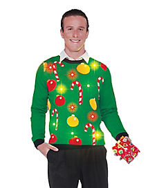 Light Up Tis the Season Ugly Christmas Sweater