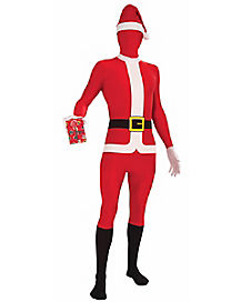 Adult Disappearing Santa Skin Suit Costume