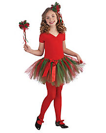 Kids Green and Red Christmas Tutu