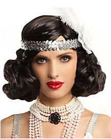 Black Hollywood Flapper Wig