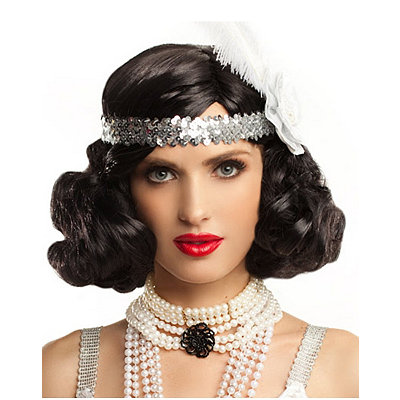 Black Hollywood Flapper Wig
