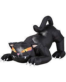 4 Ft Head Turning Black Cat Inflatable - Decorations