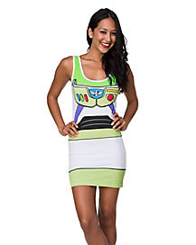 Toy Story Buzz Lightyear Tank Dress Adult Womens Costume