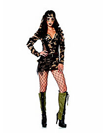 Adult Combat Babe Dress Costume