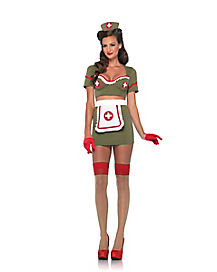 Army Nurse Womens Adult Costume