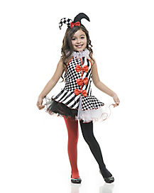 Black and White Jester Child Costume