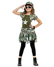 Kids Army Brat Costume