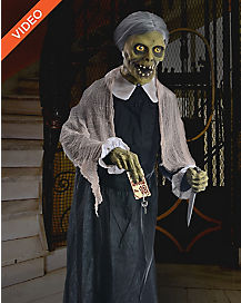 5 Ft Undead Granny Animatronics -  Decorations