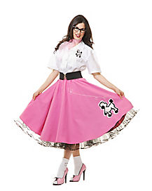 Adult 50s Poodle Skirt Costume - Theatrical