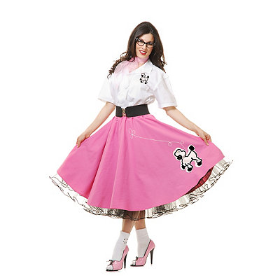 1950s Costumes Adult 50s Poodle Skirt Costume - Theatrical $129.99 AT vintagedancer.com