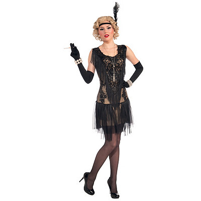 Vintage Inspired Halloween Costumes Adult Roaring 20s Lacey Lindy Costume $44.99 AT vintagedancer.com