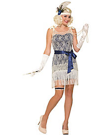 Gold Cost Socialite Adult Womens Costume