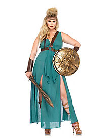 Adult Warrior Maiden Plus Size Costume