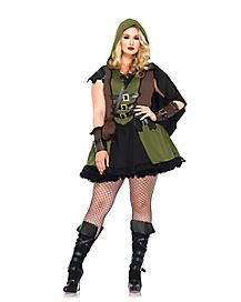 Adult Robin Hood Plus Size Dress Costume