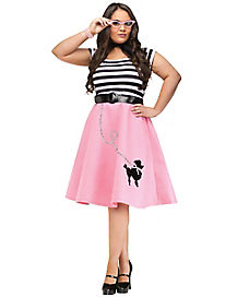 Soda Shop Sweetie Womens Plus Size Costume