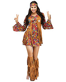 Peace and Love Hippie Adult Womens Costume