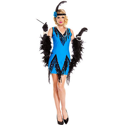 Vintage Inspired Halloween Costumes Adult Fascinating Flapper Costume $44.99 AT vintagedancer.com