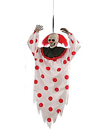 3 ft Hanging Light Up Clown with Strobe Light - Decorations