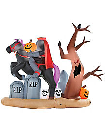 7.5 ft Headless Horseman Inflatable - Decorations