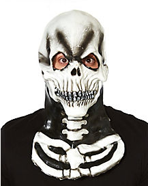 White Skeleton Neck Mask