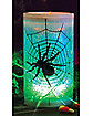 Spider Glitter Pillar Candle