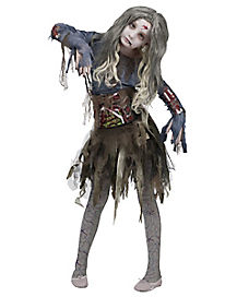 Zombie Child Girls Costume