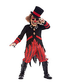 Crazy  Ringmaster Child Clown Costume